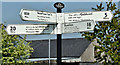 J4493 : Ulster Scots fingerpost sign, Ballycarry (May 2017) by Albert Bridge