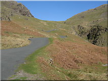 NY2201 : Looking up Hardknott Pass by G Laird