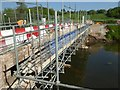 SO6569 : Construction work on Eastham Bridge by Philip Halling