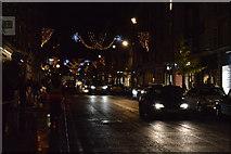 TQ2881 : Christmas lights, Marylebone High St by N Chadwick