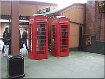 SP0786 : Telephone boxes, Birmingham Moor Street Railway Station by JThomas