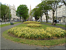TQ2904 : Flowerbeds at Palmeira Square by Paul Gillett