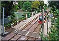 TQ2569 : Croydon Tramlink Morden Road stop recently renovated, 2000 by Ben Brooksbank