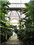 TQ1876 : Front entrance to the Palm House, Kew Gardens by pam fray