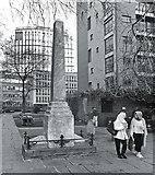 TQ3282 : Daniel Defoe's Monument by Des Blenkinsopp