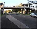 ST2995 : South side of Morrisons footbridge, Cwmbran by Jaggery