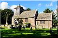 SO6026 : Church and churchyard cross, Brampton Abbotts, Herefordshire by Jaggery