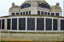 SX4753 : Plymouth Naval Memorial - East Indies, Burma, Malaya, Pacific, Coral Sea, Solomons, New Guinea panel by N Chadwick