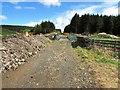 NO2203 : Path past water treatment works, Lomond Hills by Bill Kasman