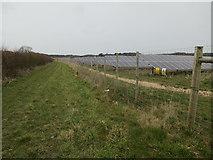 TG1440 : Hall Farm solar farm by Hugh Venables