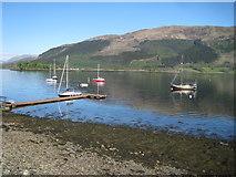 NN0958 : Landing Stage on Loch Leven, near Glencoe by Nigel Thompson