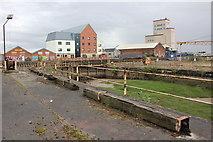 TA1029 : Dry dock, Dock Office Row, Hull by Jo Turner