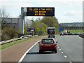 NY5030 : Variable Message Sign on the M6 near Penrith by David Dixon