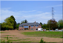 SO8690 : New house by Hinksford Lane near Swindon, Staffordshire by Roger  Kidd