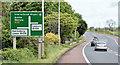 J1666 : Advance direction sign, Ballinderry (May 2017) by Albert Bridge