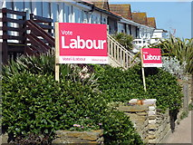 TQ7407 : General Election 2017 Posters in Bexhill on Sea by PAUL FARMER
