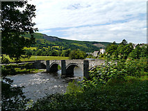 SJ1143 : River Dee and bridge at Carrog by Chris Gunns