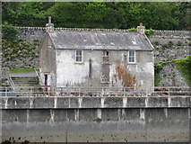 J3829 : The derelict watch house at Newcastle Harbour by Eric Jones