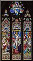 TF1476 : East window, St Giles' church, Langton by Wragby by Julian P Guffogg
