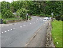 SE2443 : Church Hill joining the A660 at Bramhope by Peter Wood