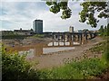 ST3188 : Low tide on the River Usk, Newport by Robin Drayton