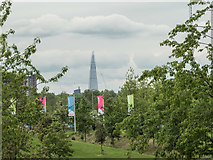 TQ3784 : View of the Shard from the Olympic Park, Stratford by Christine Matthews