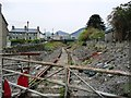 SH7045 : Disused railway heading west to Blaenau Ffestiniog station by Christine Johnstone
