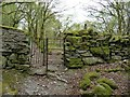SH7045 : Kissing gate on the footpath to Manod by Christine Johnstone