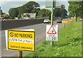 SX9065 : Surface dressing warning, Barton Road, Torquay by Derek Harper