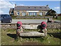 NY6441 : Memorial bench at Hartside by Oliver Dixon