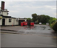 ST3090 : Red Biffa bins, Pillmawr Road, Malpas, Newport by Jaggery