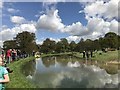 SK2670 : The Ice Pond at Chatsworth Horse Trials by Jonathan Hutchins