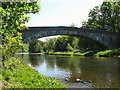 NT4335 : Ashiestiel Bridge over the River Tweed by M J Richardson