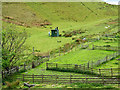 NM8027 : Wooden fencing at Lower Gylen by Trevor Littlewood