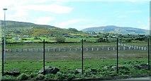 J0718 : Former lorry park at ROI  Carrickcarnan, Jonesborough Customs Post by Eric Jones