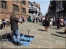 SJ4066 : Scene at the Cross in Chester city centre by Jeremy Bolwell