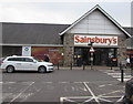 SS9082 : Sainsbury's superstore entrance in Bridgend by Jaggery