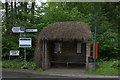TQ4744 : Thatched bus shelter on Uckfield Road by Robert Eva