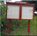 SP4398 : Church noticeboard by Andrew Tatlow