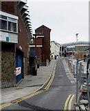 SS9079 : Y Rhiw/The Rhiw in Bridgend town centre by Jaggery