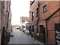 SO5039 : Black Lion yard and private car park, Hereford by Jaggery