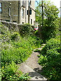 SD9927 : The south-eastern end of the Foster Mill Dams footpath, Hebden Bridge by Humphrey Bolton