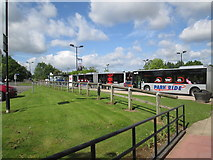 SE6451 : Park  and  Ride  buses  at  Grimston  Bar  car  park by Martin Dawes