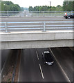 SP3476 : The new Whitley Bridge from the old over the A444, south Coventry by Robin Stott