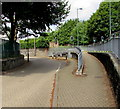 SO1409 : Pavement junction near the northern end of Church Street Tredegar by Jaggery