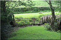 ST1897 : Gate and stile near private road by M J Roscoe