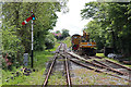 SW6430 : Helston Railway - track work at the south end of Trevarno Station by Chris Allen