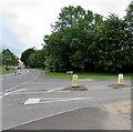 ST9897 : Windmill Road pedestrian refuge, Kemble by Jaggery