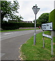 ST9897 : Windmill Road direction sign, Kemble by Jaggery
