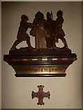 TQ2075 : St Mary Magdalen R.C. Church, Mortlake: Tenth Station of the Cross by Basher Eyre
